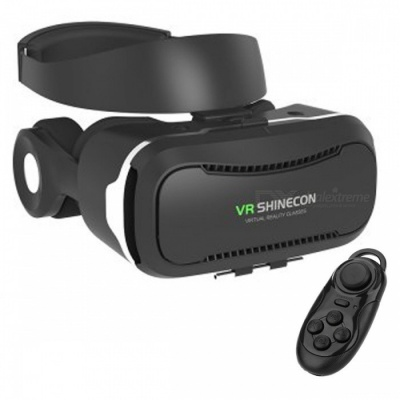 SHINECON SC-2GE 3D VR Glasses + Bluetooth Controller - Black + Grey