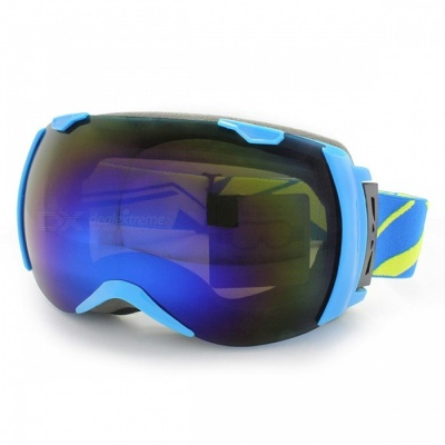 Panlees JL005 Skiing Snow Goggles Glasses w/ Dual Lens - Blue + Grey
