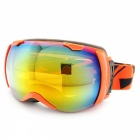 Panlees JL005 Skiing Snow Goggles Glasses w/ Dual Lens - Orange + Red