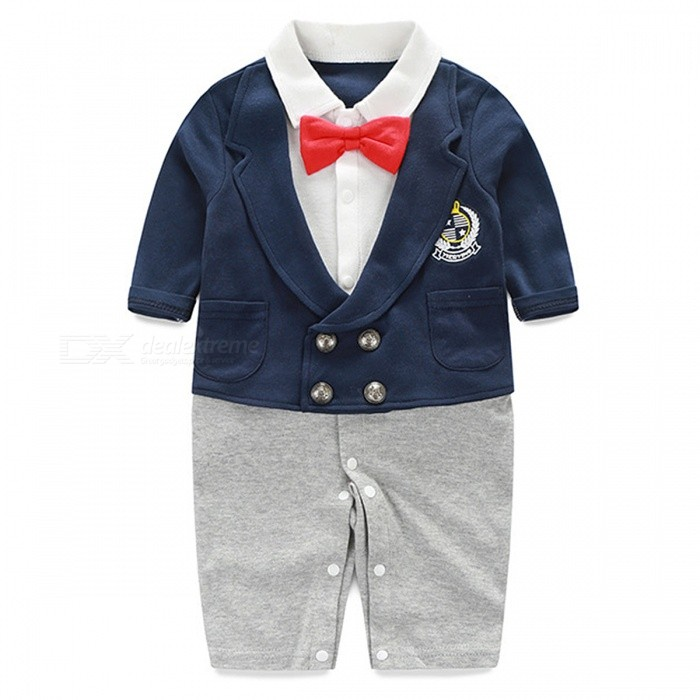 ca0df604f IDGIRL Boy Rompers Suit Newborn for 0~3 Months Baby Boy - Gray + White -  Free Shipping - DealExtreme