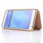 Flip-Open PU Leather Case for Samsung Galaxy J7 (2016) - Golden