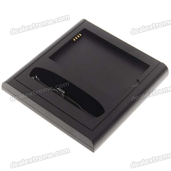 USB/AC Battery Dual Charging Dock Cradle with Sync for HTC EVO 4G (100~240V/US Plug)