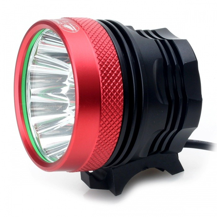 Zhishunjia B9 T6 9-LED 3-Mode Cold White Bike Light / Headlamp - RedBike Light<br>Form  ColorRed - 9-LEDModelB9Quantity1 DX.PCM.Model.AttributeModel.UnitMaterialAluminium alloyEmitter BrandCreeLED TypeXM-LEmitter BINT6Color BINCold WhiteNumber of Emitters9Input Voltage8.4 DX.PCM.Model.AttributeModel.UnitBattery10*18650 (battery)Battery included or notYesCurrent5 DX.PCM.Model.AttributeModel.UnitTheoretical Lumens7000 DX.PCM.Model.AttributeModel.UnitActual Lumens6200 DX.PCM.Model.AttributeModel.UnitRuntime5.8 DX.PCM.Model.AttributeModel.UnitNumber of Modes3Mode ArrangementHi,Mid,Fast StrobeMode MemoryNoSwitch TypeForward clickySwitch LocationTailcapBeam Range150 DX.PCM.Model.AttributeModel.UnitStrap/ClipNoApplicationHandle BarHolder Diameter2~4 DX.PCM.Model.AttributeModel.UnitWaterproofNoPacking List1 x Bike light2 x Rubber rings1 x 8800mAh Battery pack (10 x 18650) 1 x US plug power charger (100V~240V / 70cm)<br>
