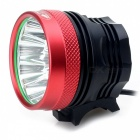 Zhishunjia B14 T6 14-LED 3-Mode Cold White Bike Light / Headlamp - Red