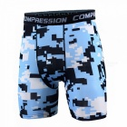 Outdoor Men's Sports Fitness Camouflage Shorts - Sky Blue (XXL)