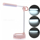 YouOKLight 3-Mode White Light LED Metal Folding Desk Lamp - Pink