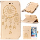 BLCR Dreamcatcher Muster Leder Tasche für IPHONE 6 / 6S Plus - Golden