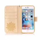 BLCR Flower Pattern Leather Wallet Case for IPHONE 6 / 6S PLUS- Golden
