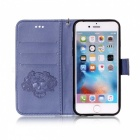 BLCR Skull Pattern PU Wallet Case for IPHONE 6 / 6S Plus - Blue