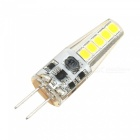 G4 2W 10-2835SMD LED Cold White Light Bulb - White + Light Yellow