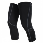 NUCKILY Bicycle Riding Fleece Knee Sleeve Winter Pads - Black (M)