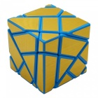 Non-toxic 3 x 3 x 3 Ghost Magic IQ Cube Toys - Blue + Golden