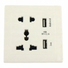 Included Interface: 2 USB + 2 Hole Socket +3 Hole Socket; Suitable for Office, Home, Hotel