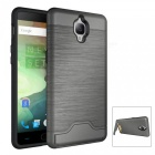 Protective PC + TPU Back Case w/ Card Slots for Oneplus 3 - Grey