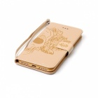 BLCR Skull Pattern Leather Wallet Case for IPHONE 7 Plus - Golden
