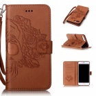 BLCR Skull Pattern PU Wallet Case for IPHONE 7 Plus - Brown