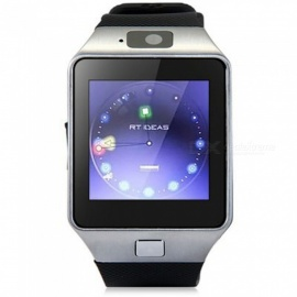 "KICCY 1.4"" Bluetooth Smart Wrist Healthy Watch for Phone - Black"
