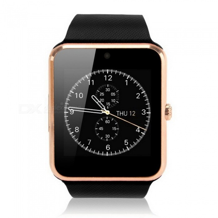 "KICCY GT08S 1.54"" SIM Bluetooth Smart Watch for Android IOS - Golden"
