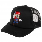 Trendy Hip Pop Style Mesh Hat/Cap with Plastic Snap Adjuster