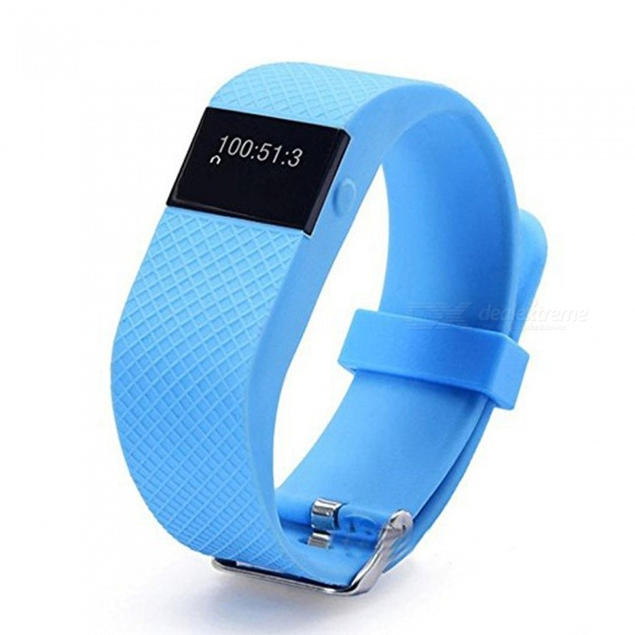 KICCY TW64S Smart Bracelet w/ Pedometer�� Heart Rate Monitor - Blue