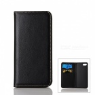 Flip Open Automatic Close Cow Split Leather Case w/ Stand for IPHONE 7