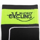 NUCKILY Non-slip Long Socks for Cycling - Fluorescent Green + Black