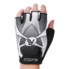 NUCKILY Summer Non-slip Breathable Half-Finger Gloves - Grey (L)