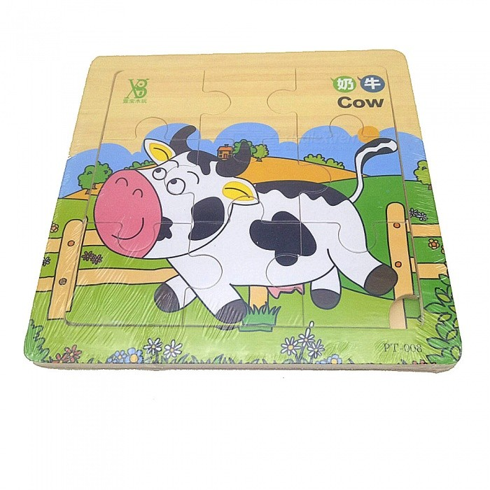 Fancy Learning éducatif Animal Print Picture Puzzle Board