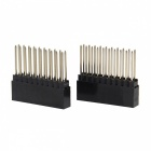Geekworm DIY 2x10Pin Stacking Female Pin Header for Arduino - Black