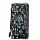 BLCR 3D Embossed Skull Pattern Case for Samsung Galaxy S7 Edge - Black