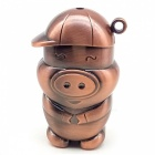 Creative Mignon Piggy Treasure gonflable Gaz Métal Briquet - Marron