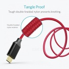 Anker Nylon tressé micro sans câble Tangle-Free (6ft / 1.8m) - Rouge