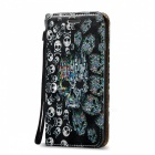 BLCR Embossed Skull Pattern Magnetic PU Holder Case for IPHONE 6 / 6S