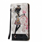 BLCR 3D Embossed Girl Pattern Magnetic PU Case for IPHONE SE / 5S / 5