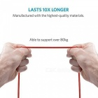 Anker Powerline + Double Flätad Nylon Micro USB (3 fot) kabel - Röd