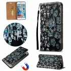 """BLCR Skull Pattern Magnetic Leather Case for 5.5"""" IPHONE 6 Plus"""
