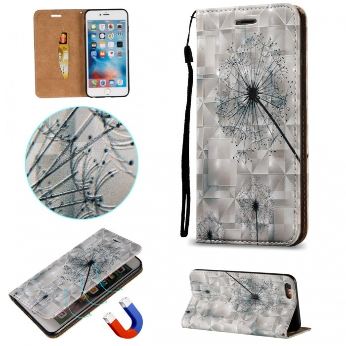 BLCR Dandelion Pattern Magnetic Leather Case for IPHONE 6 Plus
