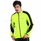 NUCKILY Waterproof Cycling Fleece Jersey - Fluorescent Green (2XL)