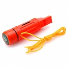ZHISHUNJIA 5-in-1 Multifunktions-Outdoor Survival Whistle (2 x CR2016)