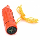 ZHISHUNJIA 5-in-1-monitoimitulostin Outdoor Survival Whistle (2 x CR2016)
