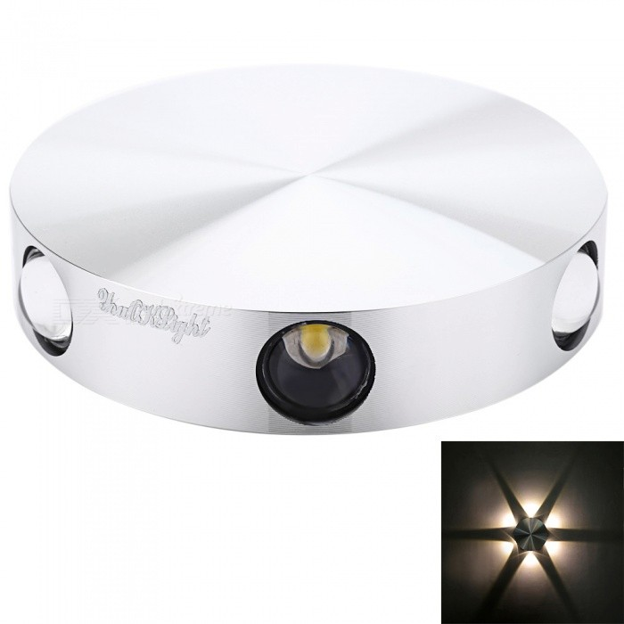 YouOKLight 6W Circular Shape LED Wall Lamp Night Light Warm LightWall Lights<br>Form  ColorSilverModelYK2241-WarmMaterialAluminumQuantity1 DX.PCM.Model.AttributeModel.UnitPower6WRated VoltageAC 85-265 DX.PCM.Model.AttributeModel.UnitEmitter TypeLEDTotal Emitters6Theoretical Lumens600 DX.PCM.Model.AttributeModel.UnitActual Lumens480 DX.PCM.Model.AttributeModel.UnitColor BINWarm WhiteColor Temperature3000KDimmableNoBeam Angle360 DX.PCM.Model.AttributeModel.UnitInstallation TypeWall MountPacking List1 x Wall lamp<br>