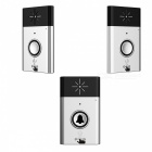 Wireless Video Wi-Fi Doordell mit 1 Trasmitter + 2 Receiver - Silber