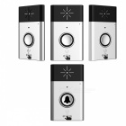 Wireless Video Wi-Fi Doordell w / 1 Transmitter + 3 Receiver - Silber