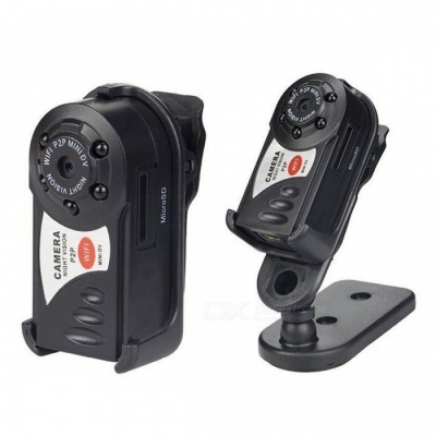 Mini HD Portable P2P Wi-Fi IP Camera Hidden DV DVR - Black
