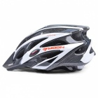 MOON MV-29 Upgrade Version Ultralight Bike Helmet - Black + White (L)