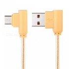 1m Nylon Braided Type-C to USB2.0 Data Sync / Charging Cable - Golden