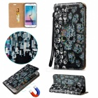 BLCR Skulls Pattern Magnetic Case For Samsung Galaxy S6 Edge - Black