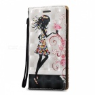 BLCR 3D Embossed Girl Pattern Magnetic Leather Case for Huawei P8 Lite