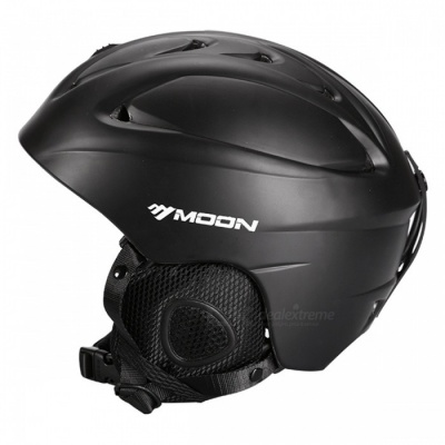 MOON MS-86 Professional Ski Women's Men's Protective Helmet - Black(S)