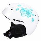 MOON MS-86 Ultralight Professional Skiing Helmet - White + Blue (M)